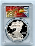 2002 W $1 Proof American Silver Eagle 1oz PCGS PR70DCAM Thomas Cleveland Eagle