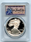 1989 S $1 Proof American Silver Eagle 1oz PCGS PR69DCAM Leonard Buckley