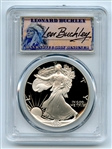 1990 S $1 Proof American Silver Eagle 1oz PCGS PR70DCAM Leonard Buckley