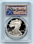 2004 W $1 Proof American Silver Eagle 1oz PCGS PR70DCAM Leonard Buckley