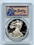 2007 W $1 Proof American Silver Eagle 1oz PCGS PR70DCAM Leonard Buckley