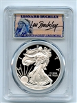 2010 W $1 Proof American Silver Eagle 1oz PCGS PR70DCAM Leonard Buckley