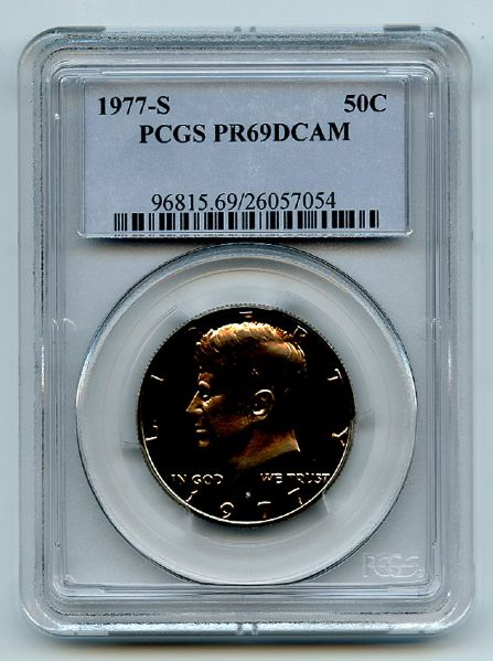 1977 S 50C Kennedy Half Dollar Proof PCGS PR69DCAM